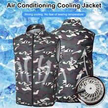 High Temperature USB Cooling Fan Hiking Vest Summer Cooling Vest Fishing Cycling Vest Air Conditioning Outdoor Jackets Men/Women