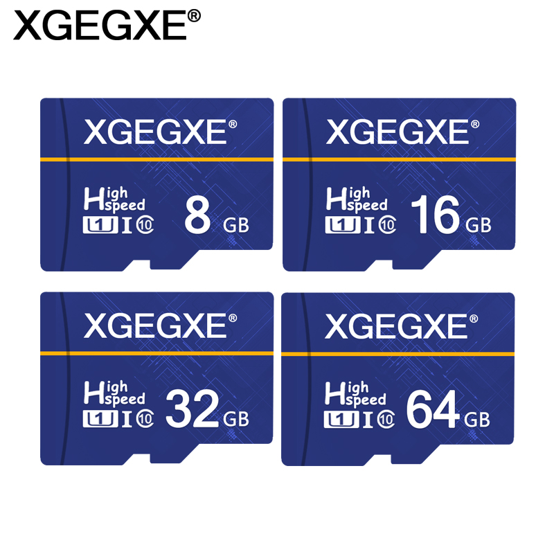 XGEGXE 32GB Memory Card 64GB T Flash Card Future Blue 8GB Class 10 UHS-1 16GB Flash Card U1 Mini Cards High Speed For Phone