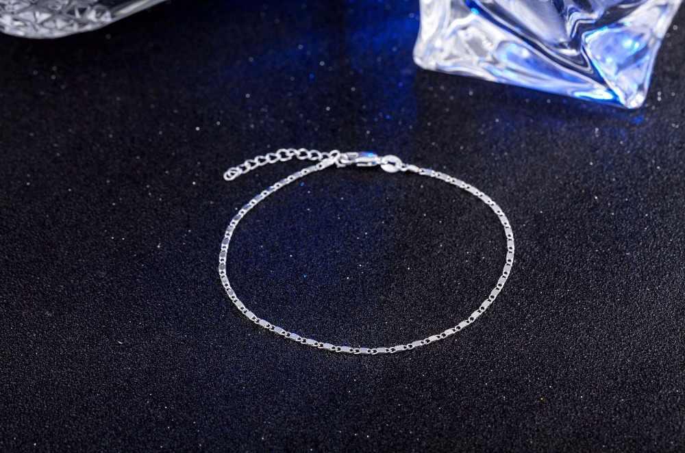 Regulowane bransoletki tenisowe dla kobiet złoty kolor 925 sterling silver chain bransoletka i bransoletka femme biżuteria ślubna na prezent