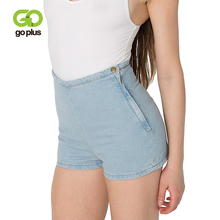 GOPLUS High Waisted Denim Shorts Women Candy Color Short Jeans Feminino Ladies Slim Summer Casual Trousers