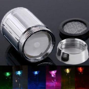 Zmiana koloru RGB Glow LED kran kreatywny kuchnia doprowadziły światła kraniki do wody strumień wody kran z kranu do łazienki kuchnia tanie i dobre opinie Liplasting Other