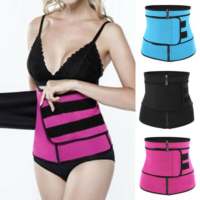Men Women Tummy Waist Trainer Cincher Sweat Belt Trainer Hot Body Shaper Slim Shapewear Sweat Belt Waist Cincher Trainer S-3XL 1