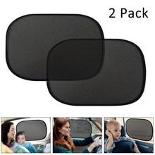 Car Window Shade 2 Pack 44x36cm Cling Sunshade for Car Windows Sun Glare UV Rays Protection for Child Baby Side Window Sun Shade