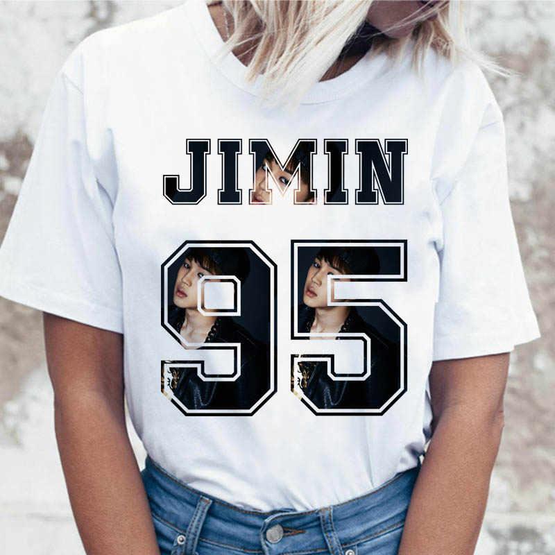 Kpop T-shirt Jin Suga J Hoop Vrouwen Jimin V Jungkook Top Tshirt Voor K Pop Koreaanse Tees Grappige Grafische vrouwelijke T-shirt K-Pop