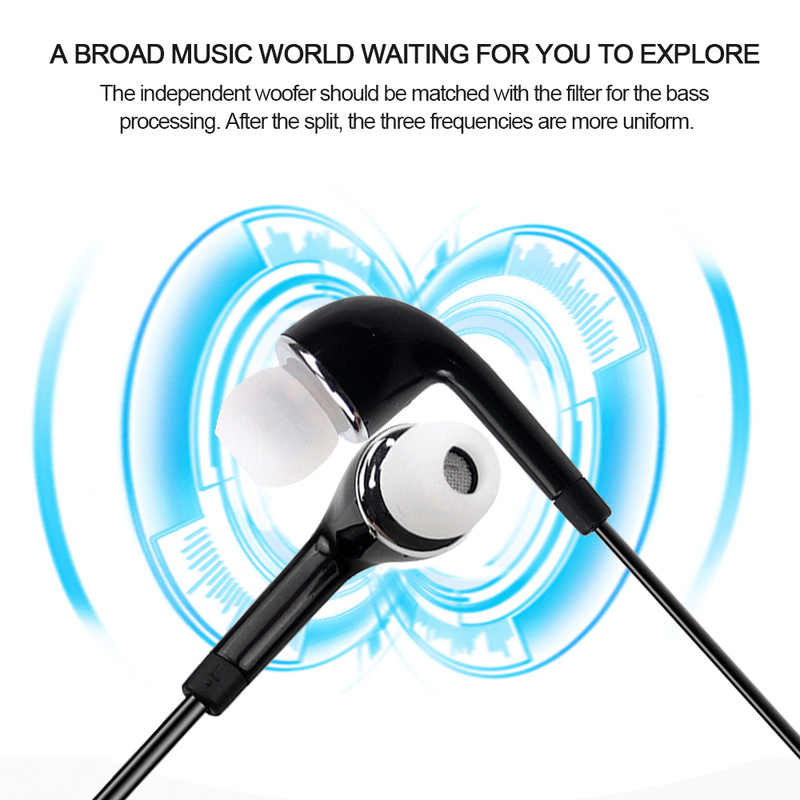 3.5 Mm Earphone In-Ear Headset untuk Ponsel Android Baru Kabel Super Bass Earpiece Handsfree Earbud dengan MIC Monitor Headset