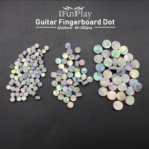 50/200pcs 3/4/6*2mm Abalone Shell Guitar Fretboard Dots Colourful Abalone White Pearl Shell Inlay Dot Guitar Accessories(China)