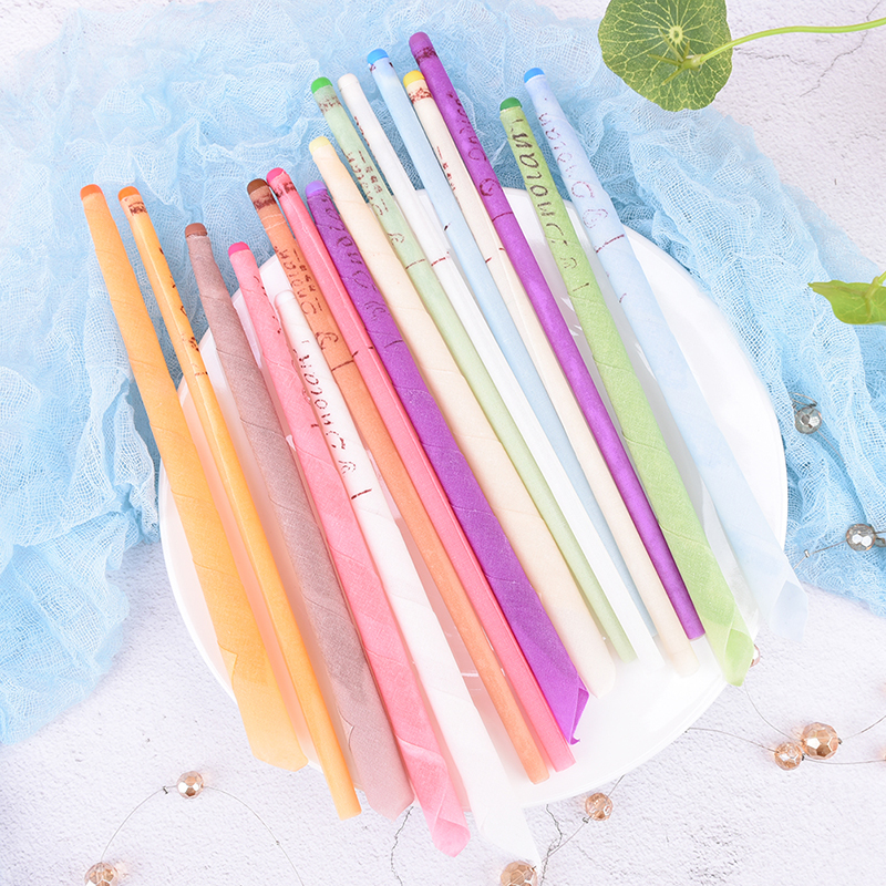 10Pcs/lot Earwax Candles Ear Wax Cleaner Removal Indian Coning Fragrance Ear Candles Healthy Care Ear Care Random Color