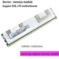 Samsung memoria de servidor ECC REG 2 GB 4GB 8GB 16GB 32 GB 64 GB DDR3 PC3 1333Mhz 1600Mhz 1866Mhz 8G 16G 10600R 12800R 14900R RAM soporte X58... x79
