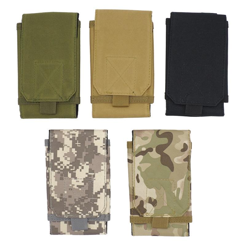 Camo Waist Bag Tactical Phone Holder Sport Waist Belt Case Waterproof Nylon EDC Outdoor Camouflage Bag Hunting Bags In Backpack