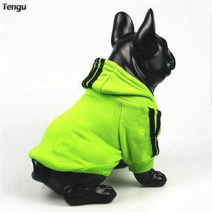 Green sports original independent style button wear hoodie for medium and large dogs spring and summer cats small dog hoodies(China)