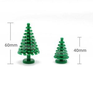Image 3 - MARUMINE Spruce Tree Compatible 3471 City Stalk Grass Flower City Part Classic Bricks Construction Educational Toys