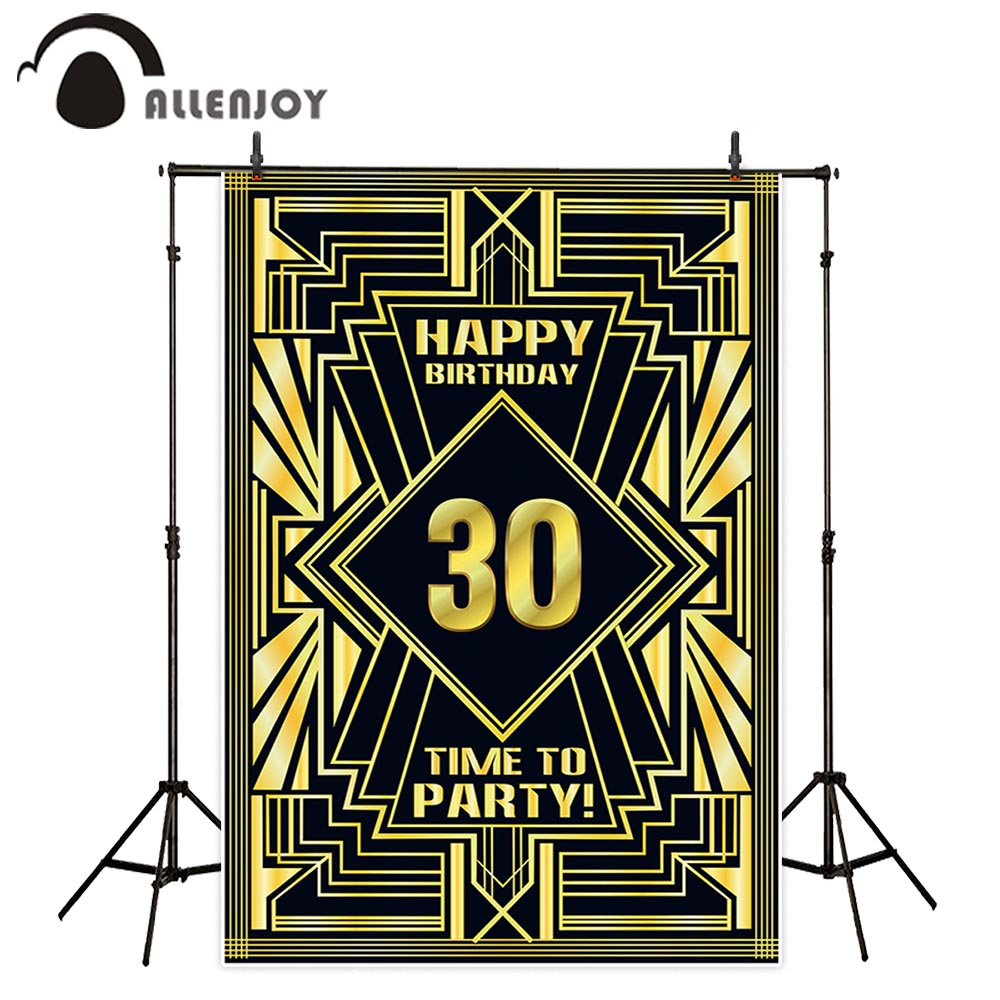 Allenjoy birthday backdrop The Great Gatsby 16 20 <font><b>30</b></font> <font><b>40</b></font> <font><b>50</b></font> <font><b>60</b></font> <font><b>70</b></font> 80th party luxury kids adults background decoration photozone image
