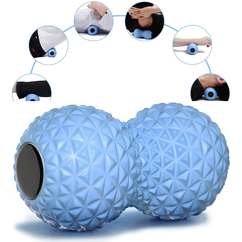 EVA Peanut Massage Ball Double Lacrosse Massage Ball Mobility Ball For Physical Therapy Deep Tissue Massage Tool Back Hand Foot