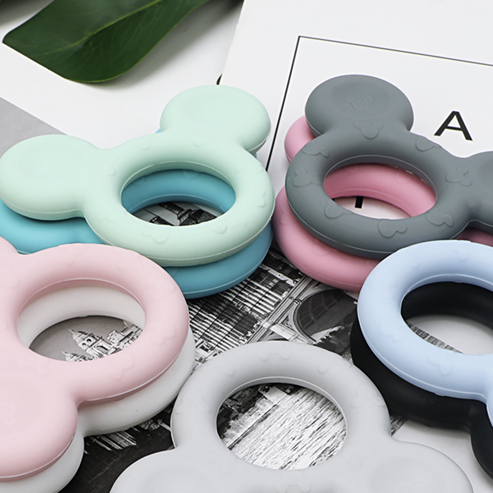 TYRY.HU 3pc Baby Teether Mickey Silicone Baby  Teething Animal Rodent Silicone Baby Teethers Soft Texture Teething Toys Baby