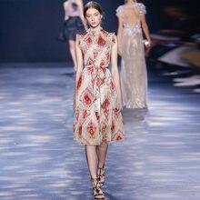 Gedivoen/модное дизайнерское летнее платье для женщин с воротником
