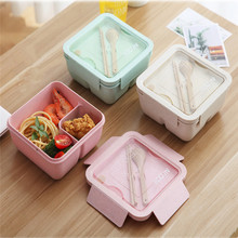 1100ml Microwave Lunch Box Wheat Straw Dinnerware Food Storage Container Children School Office Portable Bento Box Kitchen Tools 1100ml microwave lunch box wheat straw dinnerware food storage container children school office portable bento box kitchen tools