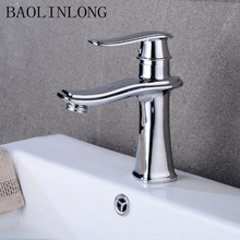 BAOLINLONG Brass Chrome Bathroom Basin Faucet Vanity Vessel Deck Mount Sinks Mixer Waterfall Faucets Tap