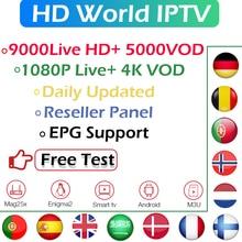 World IPTV Subscription Spain France Portugal Europe Nordic Netherlands Israel Scandinavia Android Smart TV M3U