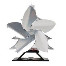 Рождественская елка тематический вентилятор для печи, работающий от тепловой энергии для бревенчатых деревянных горелок 5 лопастей нагреватель плита Вентилятор серебро