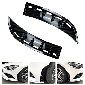 1 Pair Car Front Bumper Splitter Spoiler Flank Tail Wind Knife Decorative Cover for 2020+ Benz C118 CLA180 CLA200 image
