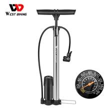 WEST BIKING-bomba de alta presión para bicicleta, inflador de aire de 160PSI, accesorios para ciclismo de montaña, Presta, Schrader