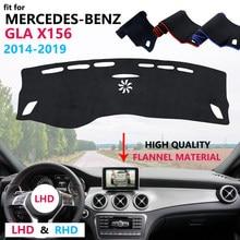Cubierta protectora para salpicadero de Mercedes Benz GLA X156 GLA180 GLA200 GLA220 GLA250 220 220d AMG, alfombrilla de franela, parasol
