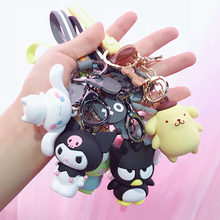New Silicone dog Keychains Cartoon Big Eye Frog bunny Key chain Pendant Kids toy Key ring Women Wallets Creative Car key Gifts(China)