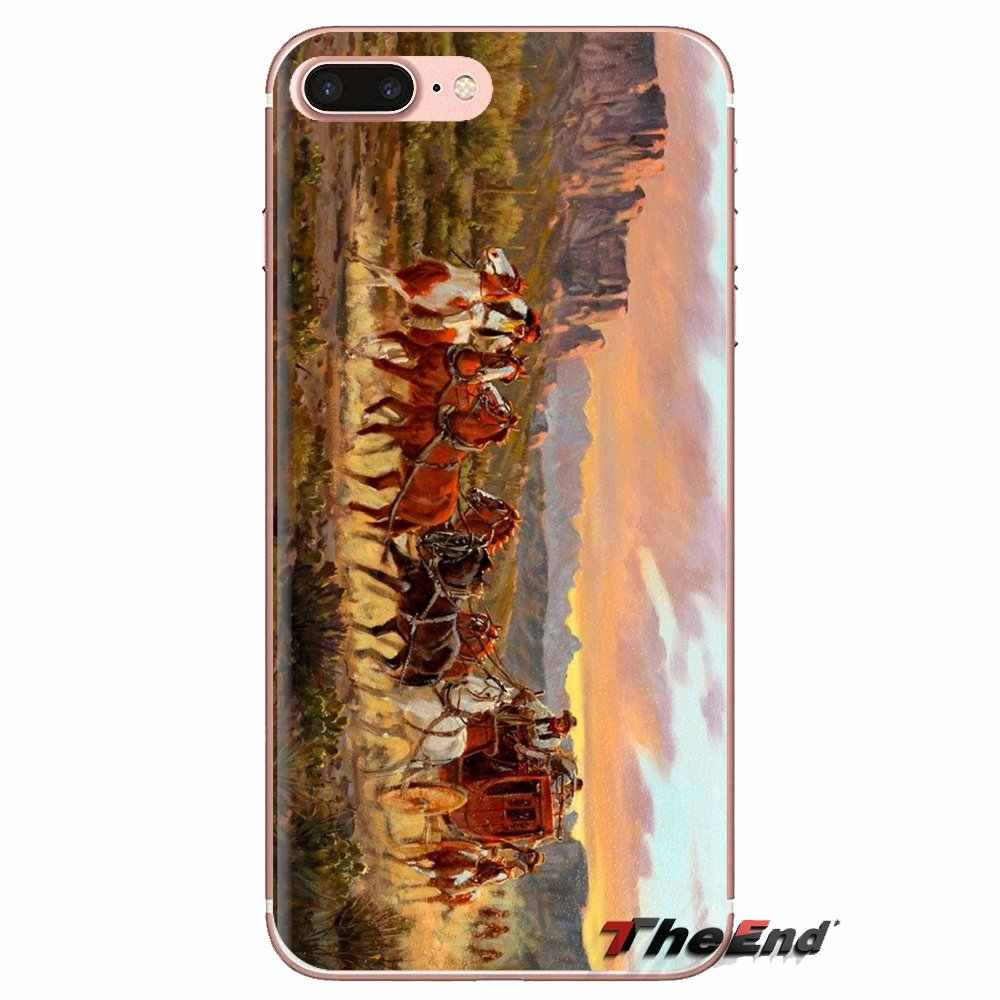 Hint baş Amerikan batı Sanat cep telefonu Kapak Için Huawei Nova 2 3 2i 3i Y6 Y7 Y9 Başbakan Pro GR3 GR5 2017 2018 2019 Y5II Y6II