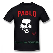 Narcos T Shirt Pablo Escobar T-Shirt drôle 100% coton T-Shirt homme manches courtes Streetwear 5xl T-Shirt(China)
