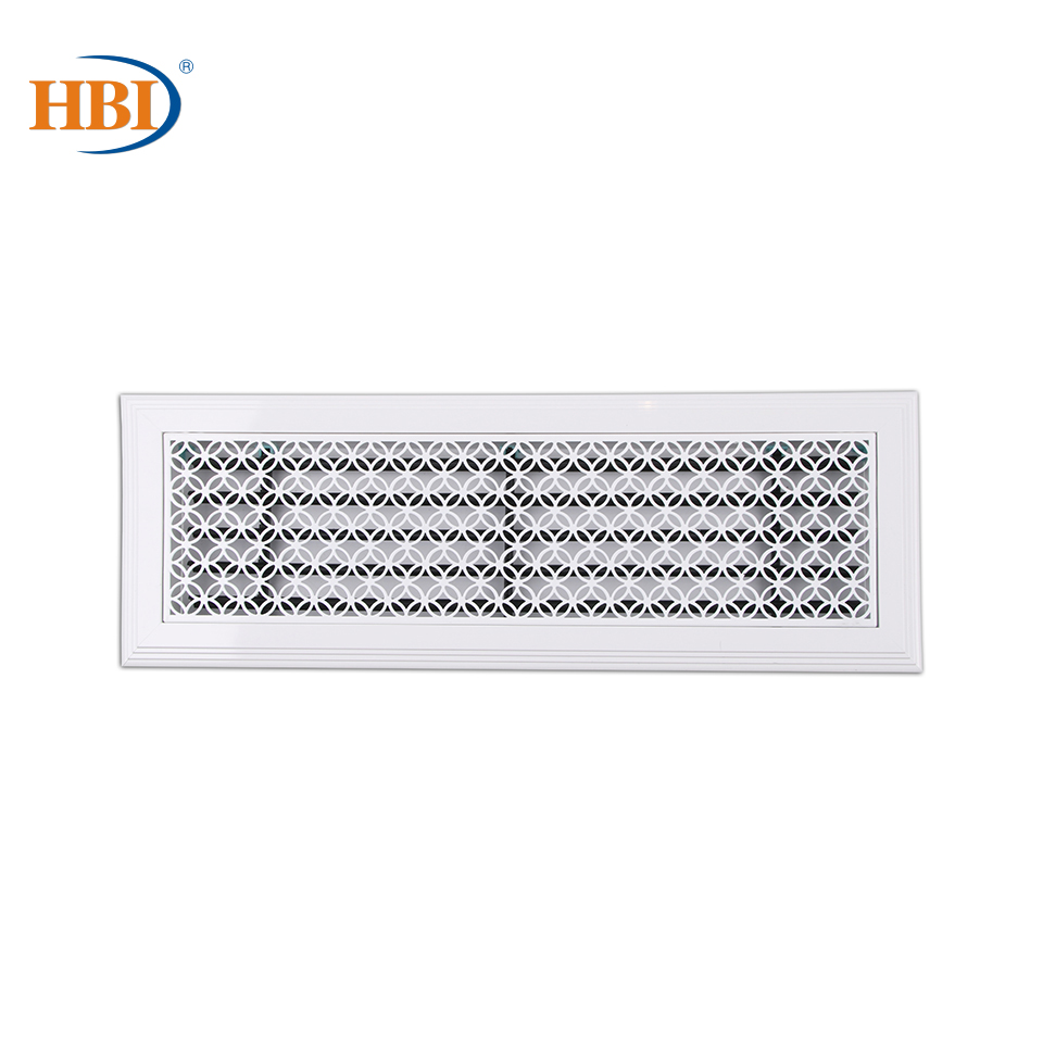 500mm X 150mm Pattern-May You Be Prosperous White Rectangular Plastic Frame Steel Decorative Air Grille Vent Retro Style Outlet