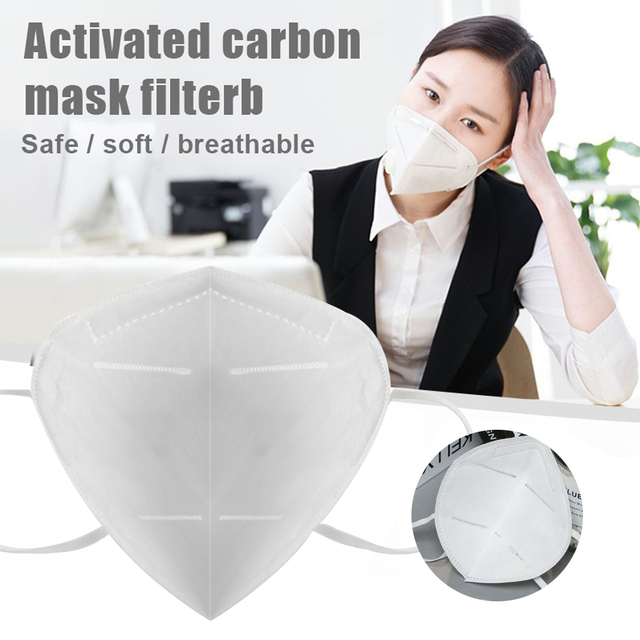 100pcs KN95 Mask Dust Masks Anti Flu Mask Prevent Anti Dusts PM2.5 Bacterium Safety Disposable Mask Face Mouth Masks Ship Fast 2