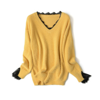 Women Casual Sweater New Style Best-selling High-quality Lace V-neck Fashion Outdoor Womens Pullover