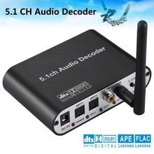 الرقمية 5.1 الاتحاد الأوروبي الصوت فك دولبي Dts/Ac 3 البصرية إلى 5.1 قناة 6 RCA التناظرية تحويل الصوت محول ل مكبر للصوت المتكلم