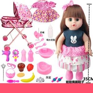 Reborn laleczka bobas wózek zestaw z wózek dziecięcy wózek zabawka do pokoju dziecięcego taling dziewczyna lalka nadwozie winylowe silikon bebe reborn prezent