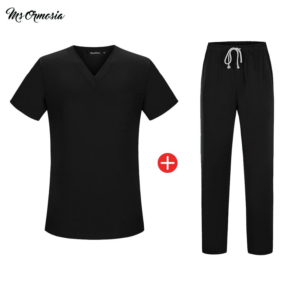 Short Sleeve Uniformes Hospital Women Medical Clothing Nursing Scrubs Clothes Set Dental Clinic Nurse Surgical Suit Tops Pants