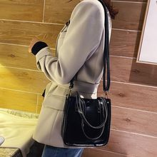 Fashion Women' S Trend Large Capacity Leather Shoulder Bag Messenger Bag Student Tote Casual Solid Color Bags Bolsa Feminina(China)