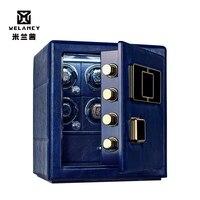 US/UK/AU/EU Plug Watch Winders for Automatic Mechanical Watches blue safe box Watch Winder Box Luxury Storage Case