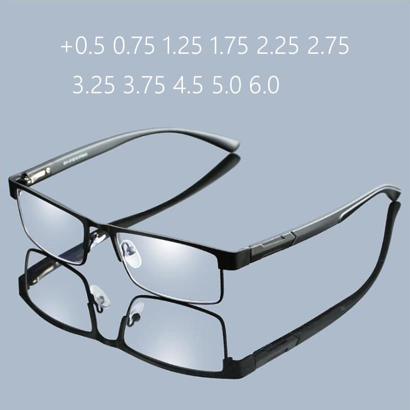 RBENN occhiali da lettura da uomo con montatura in metallo occhiali da lettura Vintage da uomo Hyperopia Eyewear 1.25 1.75 2.75 3.75 5.0 6.0 1