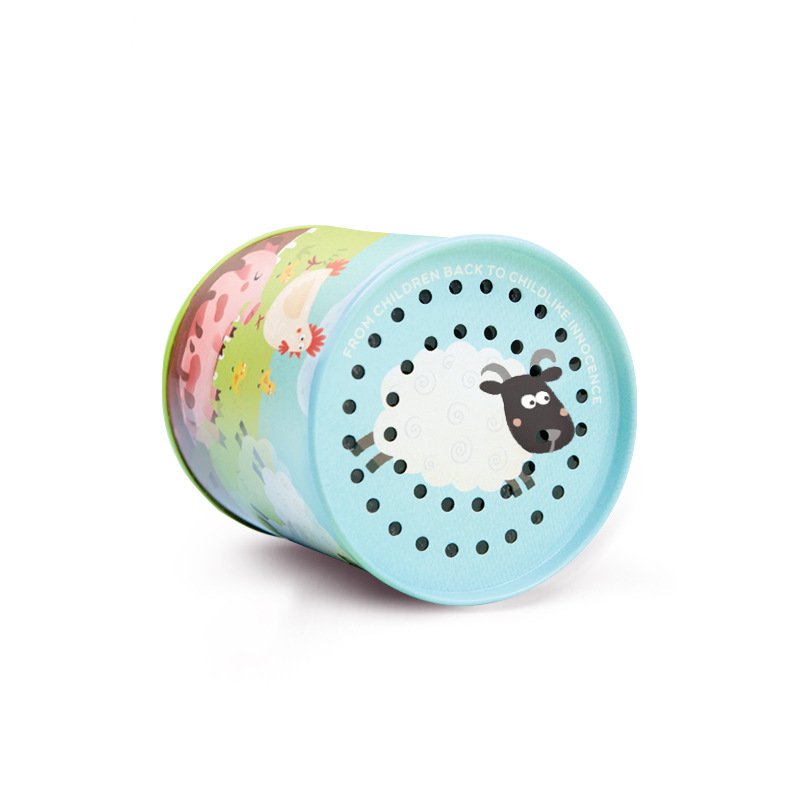 Kids Toys Classic Animal Sound Noise Maker Cow Print Tins Complete Party Set Bundle Simulation Sound Toy Gift For Children