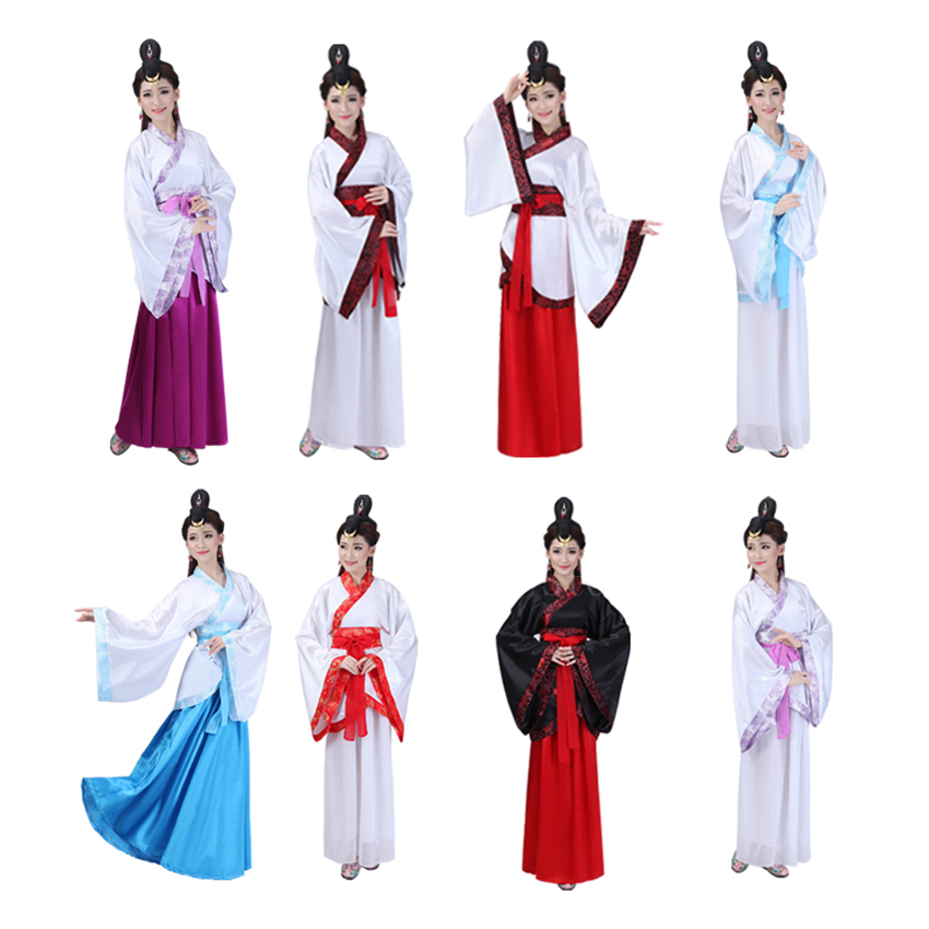 Ancient Traditional Chinese Hanfu Dress Elegant Folk Dance Costumes Woman Fairy Vintage Han Dynasty Festival Tang Suit Clothing