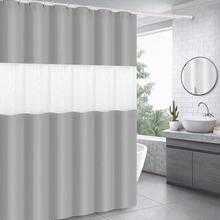 цена на Partition Curtain Eva Shower Curtain Toilet Waterproof Mould Proof Thickening Shower Curtain 3d Spliced Translucent Waterproof