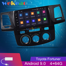 Wekeao 9 ''Layar Sentuh 1Din Android 9.0 Car Radio DVD Multimedia Player untuk Toyota Hilux Fortuner Auto Gps Navigasi 2012-2015(China)
