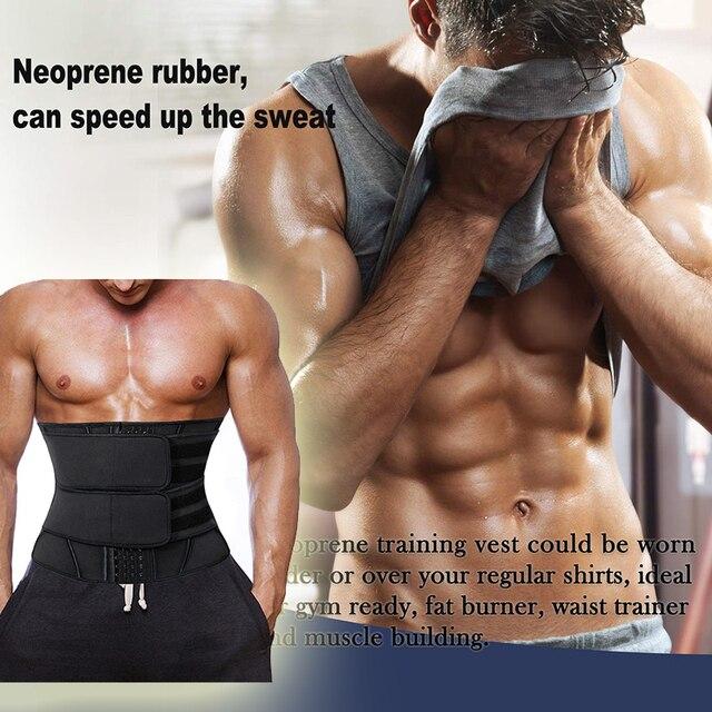 Mens Waist Trainer Modeling Belt Belly Slimming Body Shaper Tummy Control Weight Loss Shapewear Promote Sweat Trimmer Belt 2