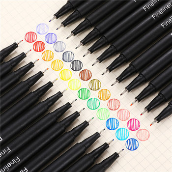 12pcs Colorful 0.38mm Neutral Marker Pen Fineliner Pens For School Office Pen Set Kawaii Ink Pen Art Supplies Cute 04031 1