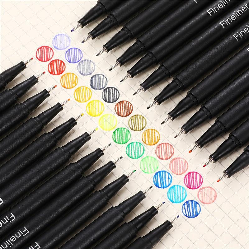 12pcs Colorful 0.38mm Neutral Marker Pen Fineliner Pens For School Office Pen Set Kawaii Ink Pen Art Supplies Cute 04031