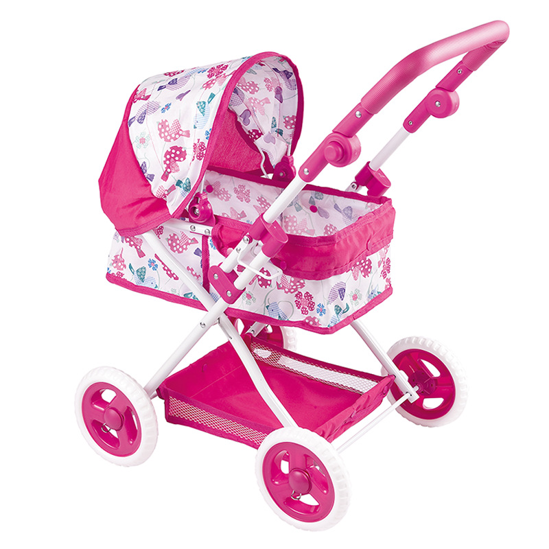 Infant Cute Toy Stroller for Baby Walker Play House Toy Stroller Play Toy Doll Stroller Simulation Trolley