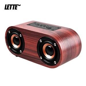 Image 1 - HIFI עץ Bluetooth רמקול AUX קלט TF כרטיס השמעת אלחוטי סאב נייד בס טור