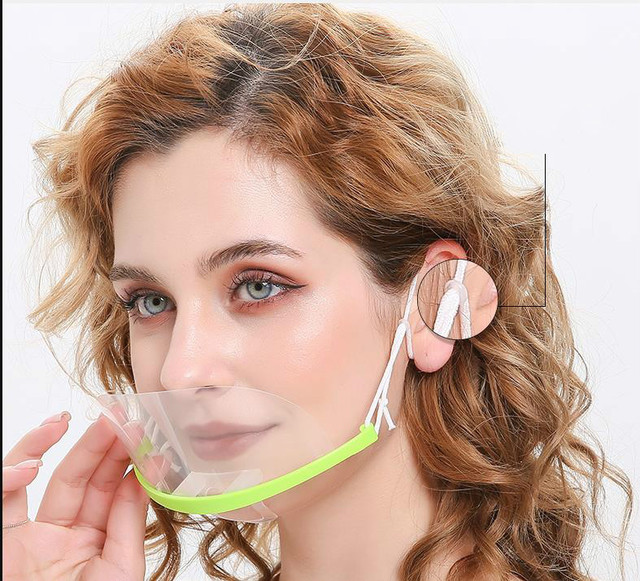Transparent face mask for catering special anti-fog spray saliva chef spit food hotel plastic kitchen restaurant anti-bacteria f 2
