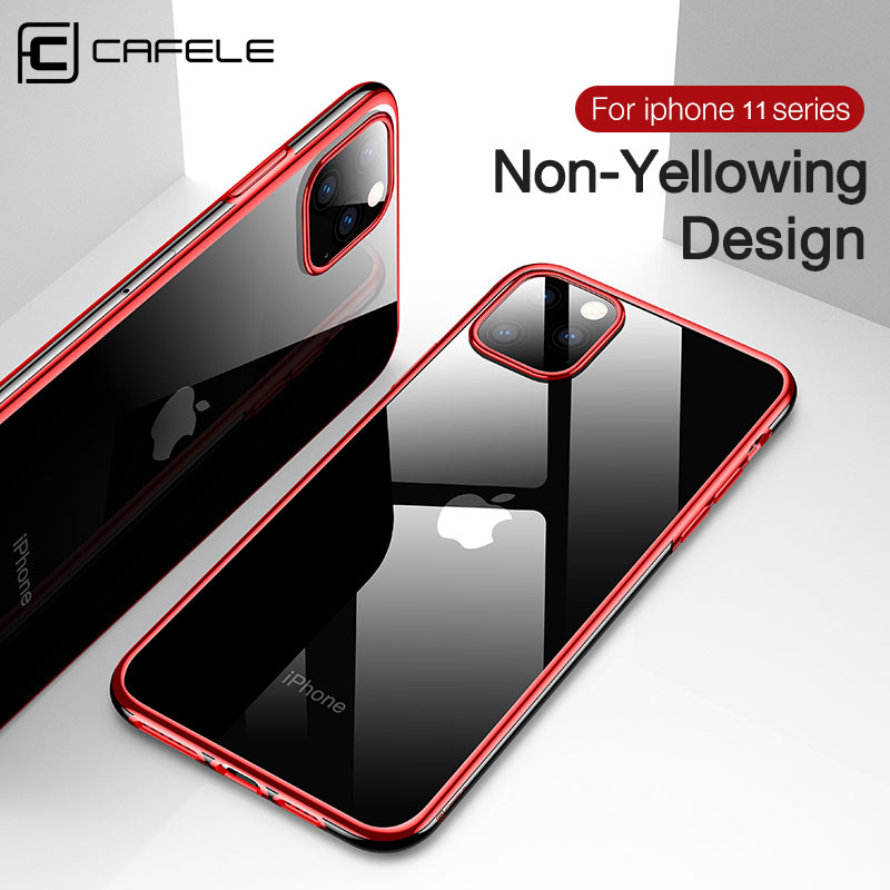 CAFELE gradient Transparent  phone case for iphone 11 pro max cell cases silicone cover X Xs Max Xr Coque