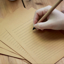Letter Kraft Writing-Paper Vintage Stationery A4 Blank Horizontal Drawing A5 10sheets/Pack